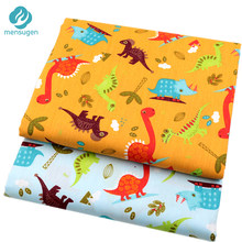 2pcs/lot Cartoon Dinosaur Cotton Fabric for Patchwork Sewing Telas for Baby Boy Toy DIY Infant Shoes Cushions Pillowcase Tissu(China)