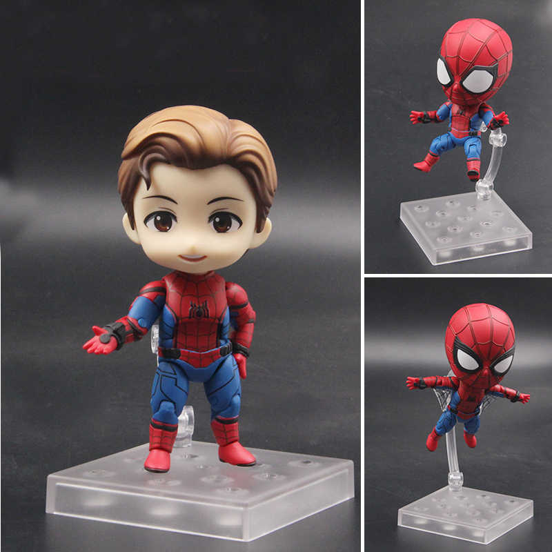 Anime Nendoroid 781 Kawaii Bonito Spiderman Homem Aranha Vingadores Marvel 10 cm Action Figure Toys