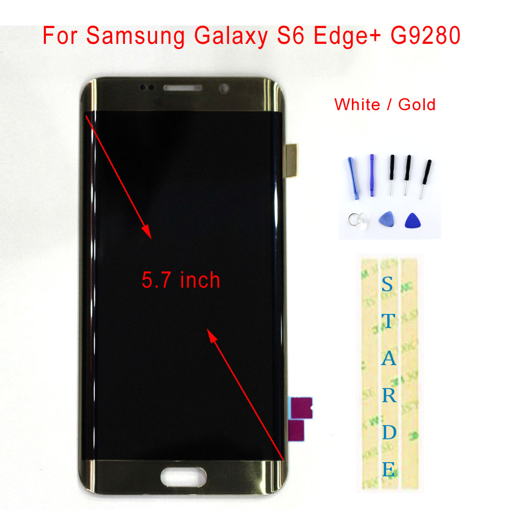 STARDE Replacement LCD For Samsung Galaxy S6 Edge+ G9280 LCD Display Touch Screen Digitizer Assembly 5.7STARDE Replacement LCD For Samsung Galaxy S6 Edge+ G9280 LCD Display Touch Screen Digitizer Assembly 5.7