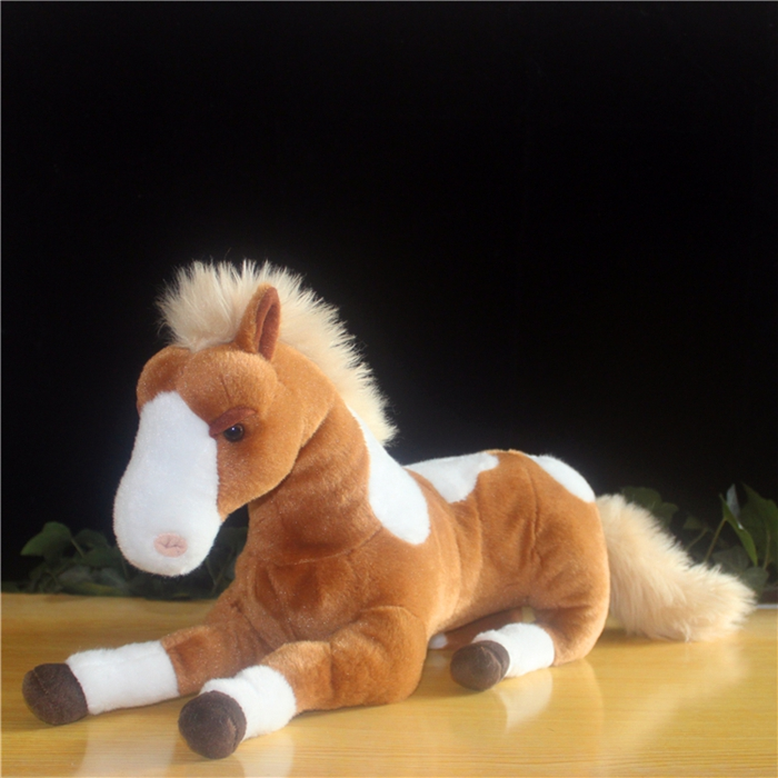 Big Doll Stuffed Simulation Horse Toy Children Pillow Plush Toys  Male  Female  Birthday  Gift big lovely simulation cow plush toy creative stuffed cow doll birthday gift about 75cm