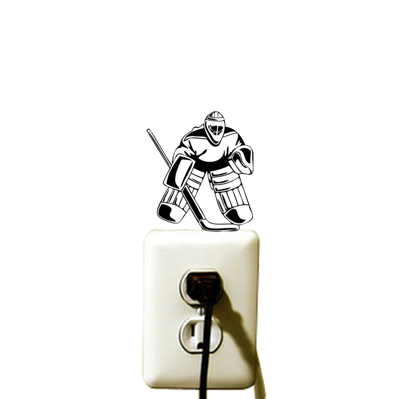Hockey Ice Sport Light Switch Vinyl Sticker Door Room Decor Decal 5WS0441