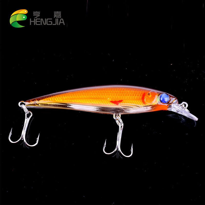 HENGJIA 1pc 11cm 14g Floating Minnow Fishing Lure Laser isca Artificial Hard Bait 3D Eyes Fishing Wobblers pesca Crankbait pike hengjia 1pc 11 5cm 11 2g pencil fishing lure hard isca artificial minnow crank bait fake bait fishing hook carp fishing wobblers