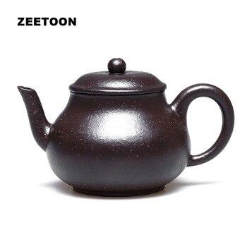 120ml Authentic Yixing Teapot Chinese Healthy Purple Clay Black Gold Sand Siting Pot Master Zisha Kung Fu Tea Set Tea Pot Kettle