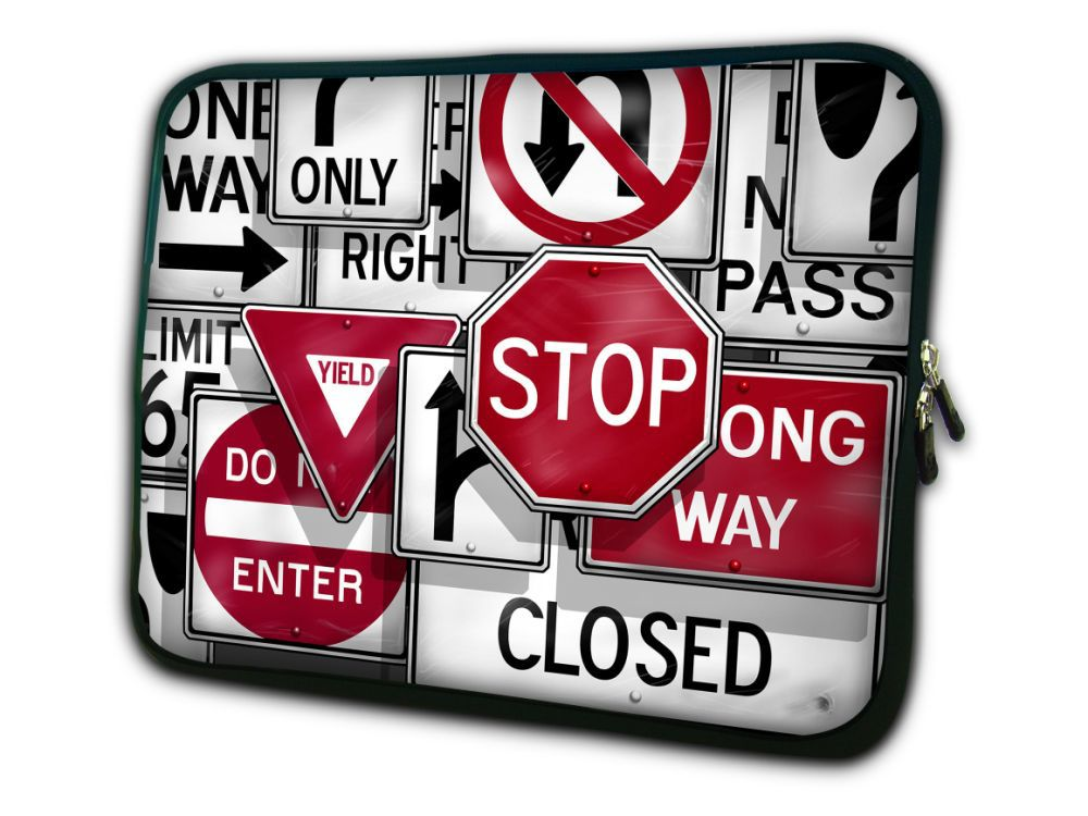 Road Sign 17 17.3 Laptop Bag Notebook Case Cover Sleeve Stylish Free Shipping With Tracking Number