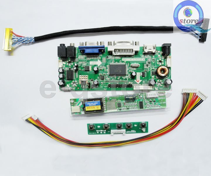 VGA LCD Controller Board Work for CLAA154WB04 CLAA154WB05 CLAA154WB05A LCD Panel