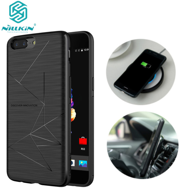 newest 70b15 c5985 US $18.42 |Nillkin Oneplus 5 Qi Wireless Charging Receiver Case For One  plus 5 A5000 Back Cover Compatible Magnetic Phone Holder oneplus 5-in  Fitted ...