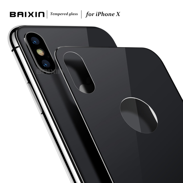 huge selection of bb3af 19818 US $2.7 36% OFF|Baixin 5D Back Film Screen Protector For iPhone X 10  Tempered Glass For Apple iphone x Protective glass Film Anti scratch-in  Phone ...