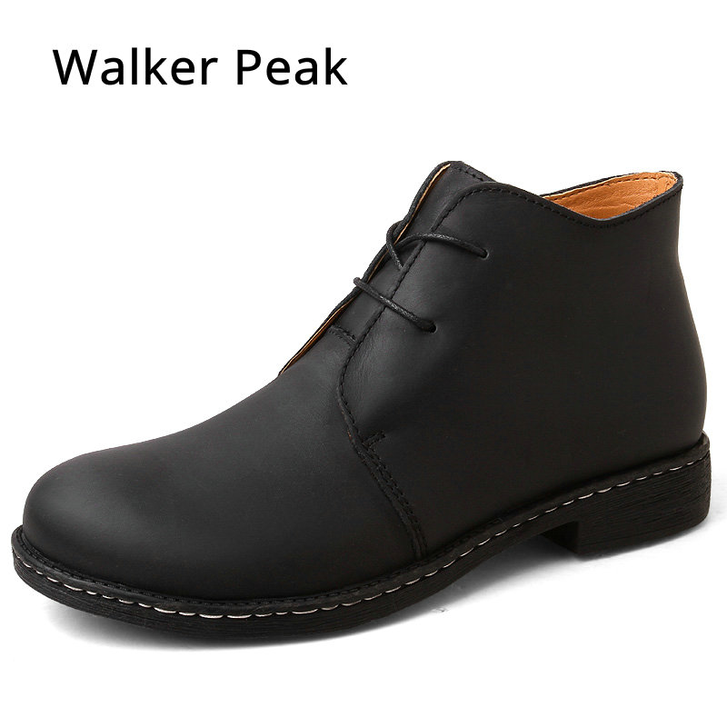 Ankle Boots for men Business Chukka Mens Boots High Top Casual Shoes Outdoor Leather Mens Winter Shoes Male Walker Peak все цены