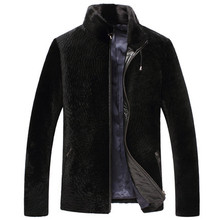 2015 New pattern Man Wave pattern Cashmere collar Skin and fur Fur man Genuine leather Leather jacket  WXN018