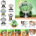 New White Clear Pumpkin Plastics Crystal  Bedroom Cabinet Cupboard Drawer Knob Pull Hand Round Pumpkin Cone Rectangular Knobs