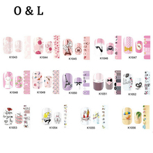 1pcs New font b Nail b font font b Art b font Stickers Cartoon Flower Heart