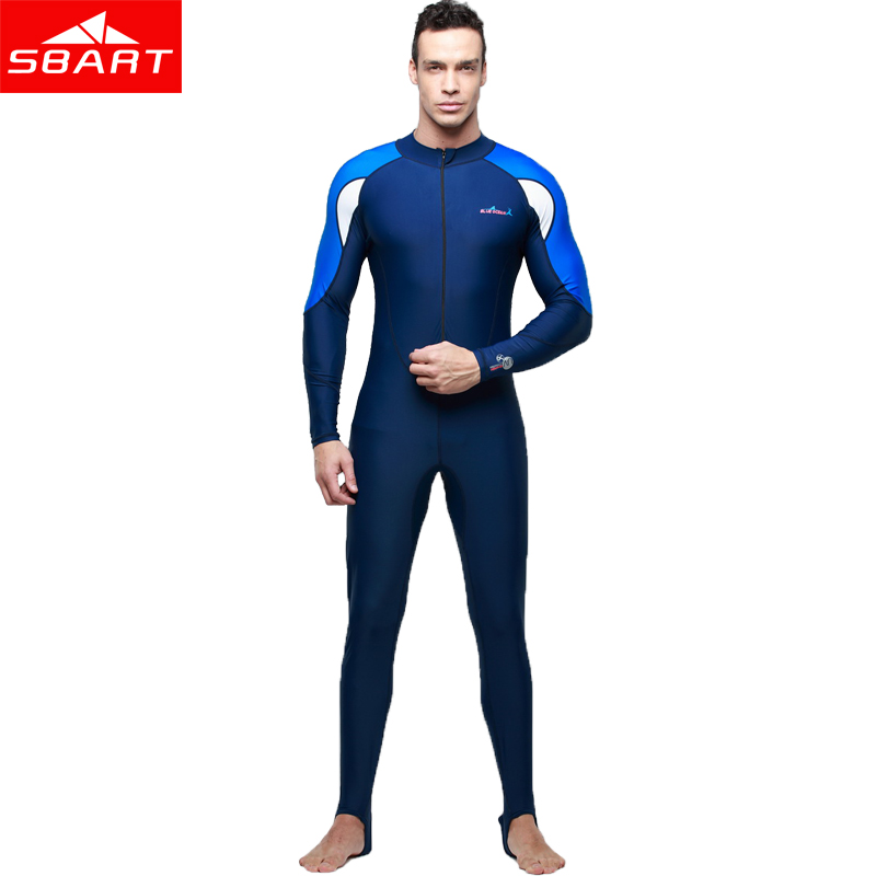 SBART Long Sleeve Lycra Wetsuit Women Men Spearfishing Surfing Scuba Diving Equipment Anti-UV Quick-dry Water Sport Wet Suits