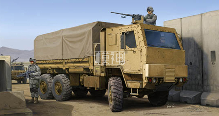 The United States military assembly model of armored army 1:35 M1083 tactical armored truck cab 01008 united states production of amway