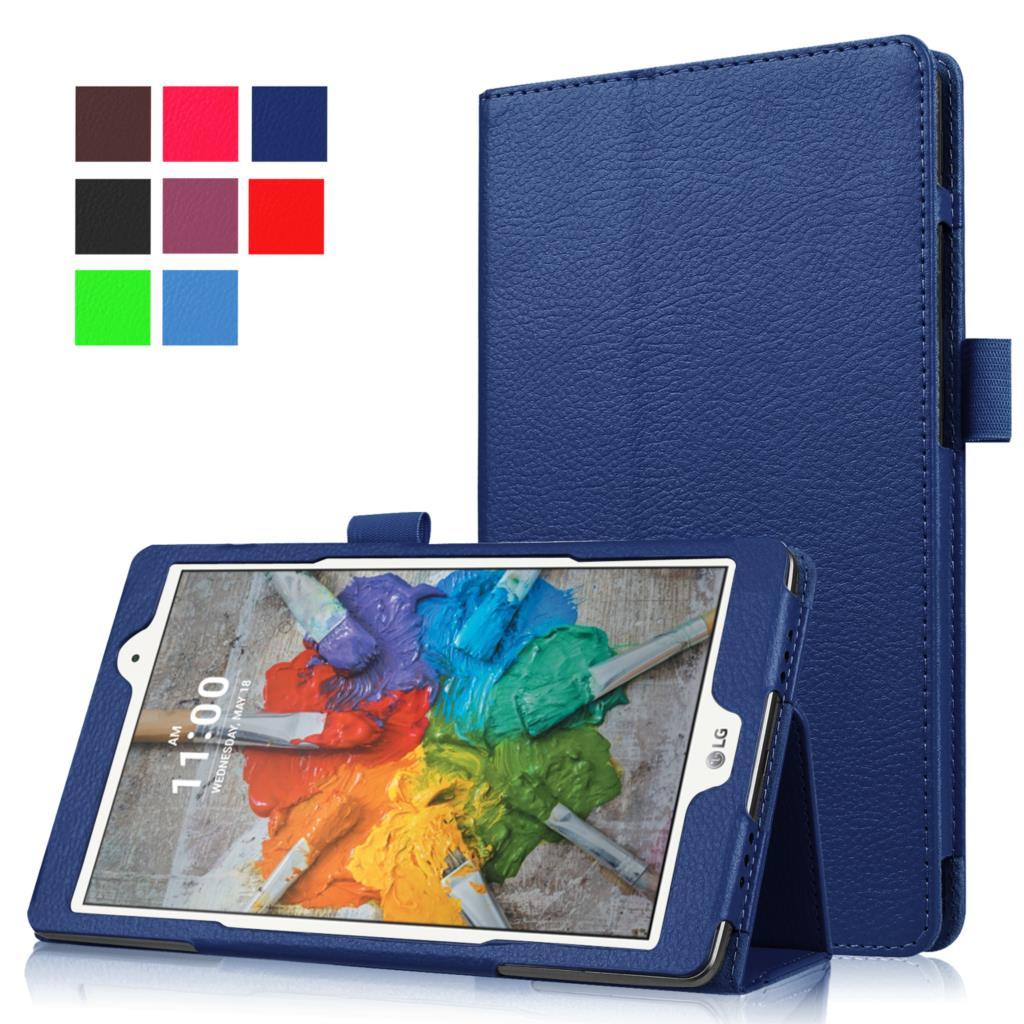 New Case for LG G pad 3 8.0 V525 V521 V520 PU Leather Stand Case for LG Gpad 3 iii 8.0 V525 tablet case+Film+Stylus Pen