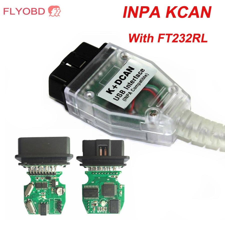 Высококачественный usb-кабель INPA K + CAN K для BMW INPA с чипом FT232RL INPA K DCAN для bmw, USB-интерфейс, полный диагностический кабель