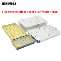 Beauty Health Tools Ophthalmic Microsurgery Instrument Eyelid Tools Silicone/stainless steel Disinfection Box high quality