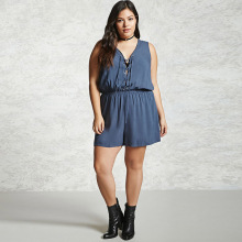 Summer Jumpsuits 2017 Plus Size women Rompers 6XL Black Sleeveless Playsuit Big Size 5XL V-Neck Body Feminino Sexy Overalls