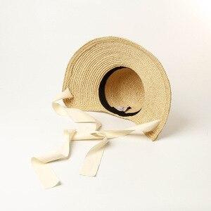 Image 5 - Шляпа от солнца USPOP женская с широкими полями, соломенная Складная Панама ручной работы, из рафии, в винтажном стиле, лето