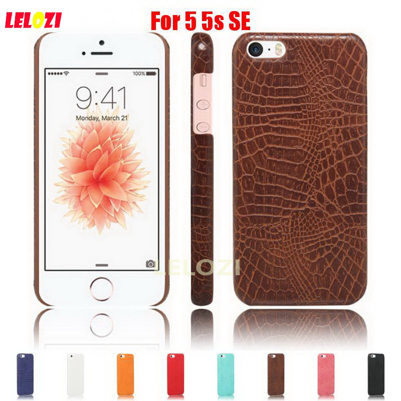 LELOZI Crocodile Snake Pattern Hard PC PU Leather Lather Leathe Phone protect Etui Coque Case For iPhone 5 5s SE Cool Cheap