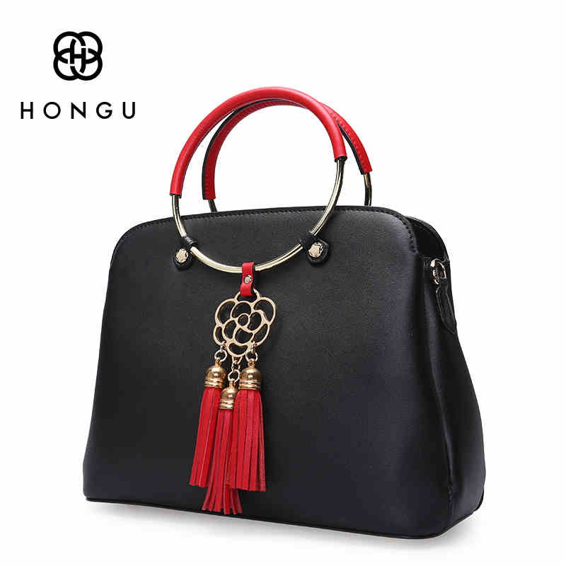 HONGU Famous Brand Simple Luxury Cow Leather Bag Women Shoulder Bag Ring Wild Atmospheric Laptop Business Clutch Crossbody BagsHONGU Famous Brand Simple Luxury Cow Leather Bag Women Shoulder Bag Ring Wild Atmospheric Laptop Business Clutch Crossbody Bags
