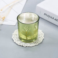 Soy Wax Scented Candles Natural Colorful Glass Stress Relief and Aromatherapy Candles Birthday Wedding Christmas Candle 30