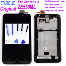 STARDE LCD for Asus Zenfone 2 ZE550ML Z008 Z008D Z008DB Z008DC Z00BD LCD Display Touch Screen Digitizer Assembly with Frame Tool tested 5 5 for asus zenfone 2 ze550ml lcd display touch screen digitizer assembly replacement part free shipping