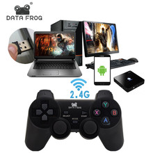 Data Frog 2,4g Android Gamepad Compatible con PC de Windows PS3 TV Box Android Smartphone Joystick juego