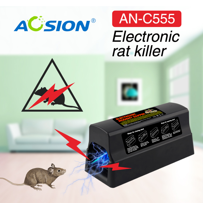 Home Aosion Batteries and Adapter operated pest control electric mouse mice killer rat rodent killer