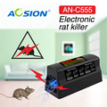 Home Aosion Batteries and Adapter operated pest control electric mouse mice killer rat rodent killer zapper and trap
