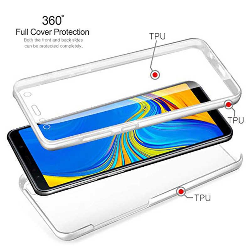 360 Độ Đầy Đủ Cơ Thể Trường Hợp đối Với Samsung Galaxy A3 A5 A7 2016 2017 S4 S5 S6 S7 S8 S9 Cạnh cộng với A5 J4 J6 J8 A8 2018 TPU Rõ Ràng Bìa
