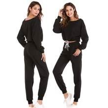 Automne Hiver Deux pièces Survêtement Jogging Costumes 5 Couleur Pour Femmes  Sport Costumes de Course Pantalon de Survêtement de. ce0ad11e63d
