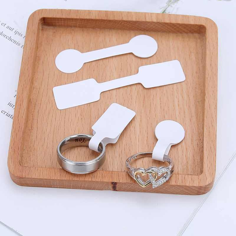 Hot Sale 100pcs/bag Blank Price Tags Necklace Ring Jewelry Labels Paper Stickers Retail Store