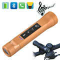 3 in 1 Outdoor Wireless Music Torch Flashlight Radio Bluetooth Bike Speaker LED Light  Bicycle Holder For Cellphone