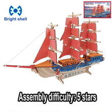 DIY arts and 3D ship Handmade Wooden Craft toys Party Arts Puzzles Model Decoration for children kid Toy Birthday Best Gift new year gift mayflower 3d puzzles model ship decoration diy building kit education game assembly family handmade work together