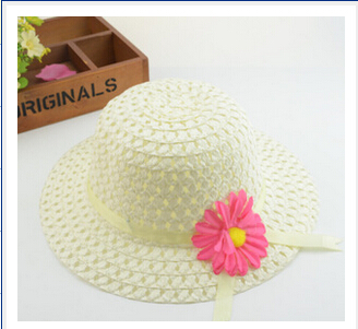 2018 Summer Korean Version of Sunflowers Children Sun Hats Colorful Candy Color Outdoor Sun Shade Straw Hat