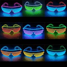9 Colors Novelty LED Glasses Light Up Flashing Luminous Glasses Night Event Birthday Party Bar Glowing Supplies(China)