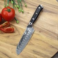 SUNNECKO 5 Santoku Kitchen Knife Japanese Damscus VG10 Steel Core Blade Razor Sharp G10 Handle Meat Fruit Cut Cooking Knives