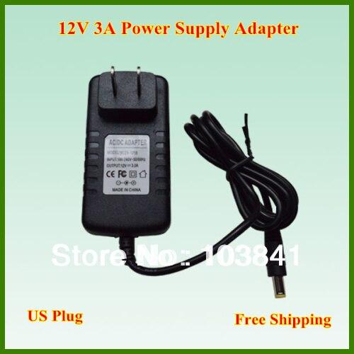 Livraison Gratuite Shipping12v 3a 50-60hz 36 W Us Plug Adaptateur D'alimentation Ac100-240v à Dc Chargeur D'alimentation Pour Smd5050 Ou 3528 Led Bande Lumineuse En Voyageant