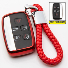 цена на TPU Car Key Case Cover For LAND ROVER LR4 Range Rover Sprot Evoque Discovery 3 4 Freelander 5 Button Remote Key Shell Holder