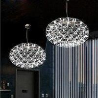 뜨거운 판매 스테인레스 스틸 LED 펜던트 조명 램프 불꽃 평면 공 모양 거실 로프트 조명 상점 Lights110-240V