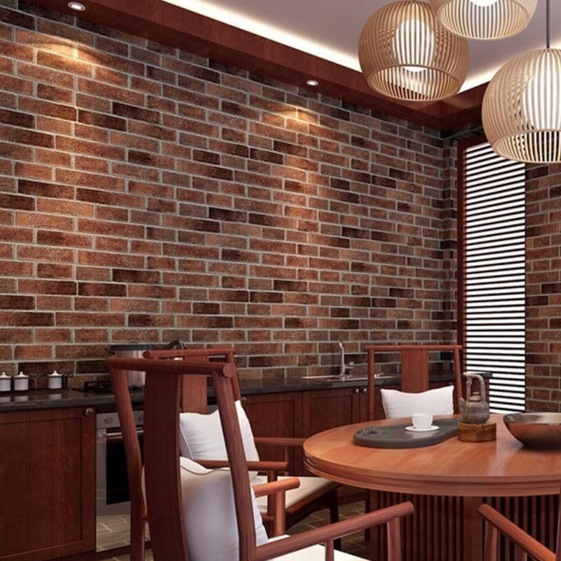 100x45cm 3d waterproof pvc brick stone wall wallpaper roll faux