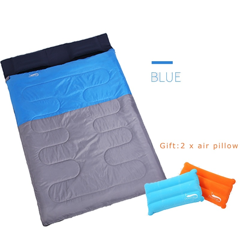 Desert Fox 2 Person Camping Sleeping Bag 220x150cm Waterproof Splicing Separating Compression Sack for Outdoor Hiking