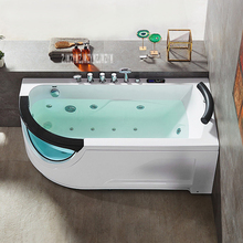 Q307N маленькая современная бытовая ванная ванна высокого качества акриловая ванна термостатическая ванна для серфинга 220 В(1400*770 мм