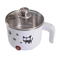 110V multi function electric skillet mini electric kettle 1.2L eletric hot pot steamer stainless steel portable heating pan|Rice Cookers| |  -