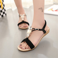 2016 New Fashion Summer Women Sandals Mujer Ladies Shoes Bohemia Flat Shoes Sandalias Gladiator Sandals Women