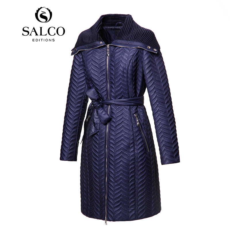 ФОТО SALCO Free shipping 2015 new European and American fashion ladies long padded embroidery