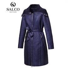 Salco бесплатная доставка 2015 новых европейских и американских мода дамы с хлопка-ватник вышивка