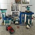 2016 New 890pcs 10424 City Police Station building blocks Action Figures set helico Model Bricks boy Christmas gift toys