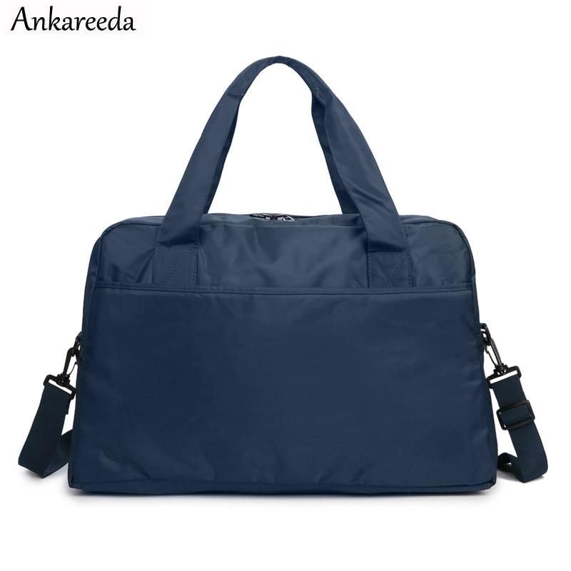 Ankareeda Fashion Waterproof Travel Bag Large Capacity Bag Women Shoulder Bags Unisex Luggage Travel Top Handbags cucyma motorcycle bag waterproof moto bag motorbike saddle bags saddle long distance travel bag oil travel luggage case