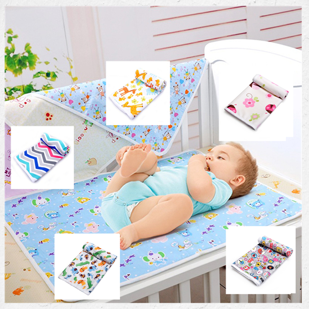 Free Shipping 73*73cm cotton waterproof pad changing mat mattress washable baby urine cloth pad bed sheet